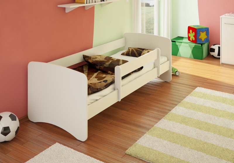 NELLYS Detská posteľ s bariérkou Filip - biela, 160x80 cm