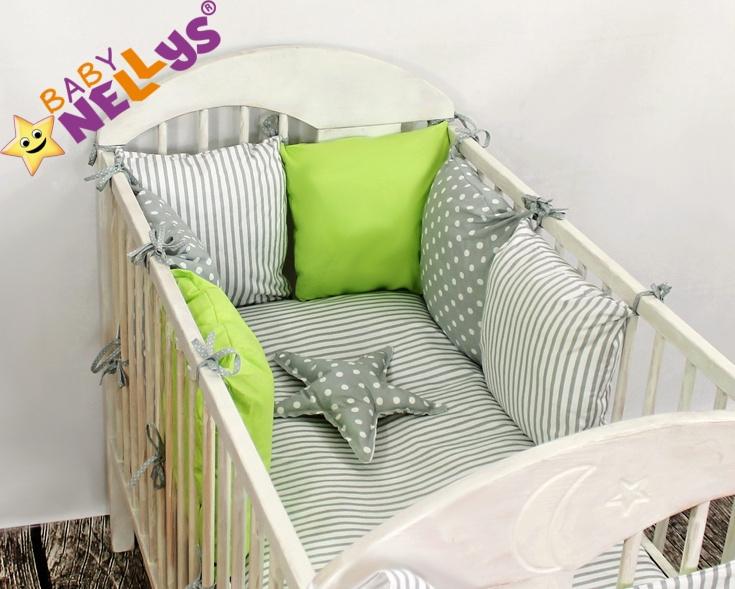 Baby Nellys Mantinel Be Love Lux vankúšikový s obliečkami vzor č. 6