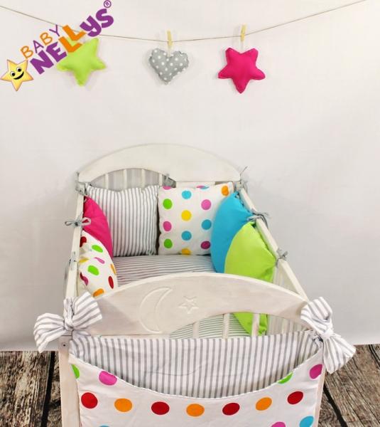 Baby Nellys Mantinel Be Love Lux vankúšikový s obliečkami vzor č. 13