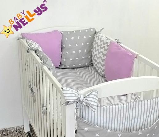 Baby Nellys Mantinel Be Love Lux vankúšikový s obliečkami vzor č. 28