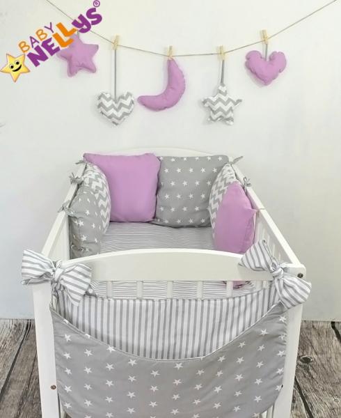 Baby Nellys Mantinel Be Love Lux vankúšikový s obliečkami vzor č. 20