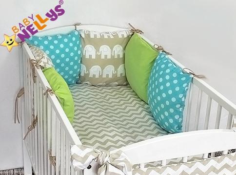 Baby Nellys Mantinel Be Love Lux vankúšikový s obliečkami vzor č. 23