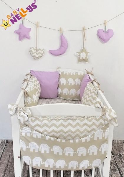 Baby Nellys Mantinel Be Love Lux vankúšikový s obliečkami vzor č. 24
