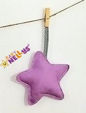 Baby Nellys Dekorácie Be love Hviezdička - fialová