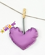 Dekorácie BE LOVE SRDIEČKO - fialová