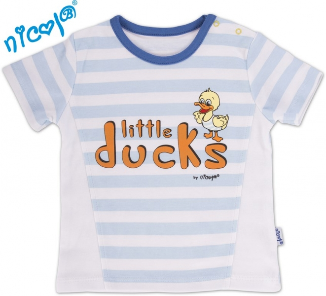 Tričko kr.rukáv Little Ducks - sv. modrý pruh
