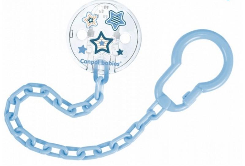 Retiazka na cumlík Canpol Babies - Newborn baby, sv. modré