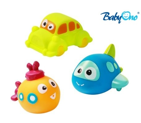 Baby Ono Veselé hračky do vody DOPRAVNÉ - 3m +