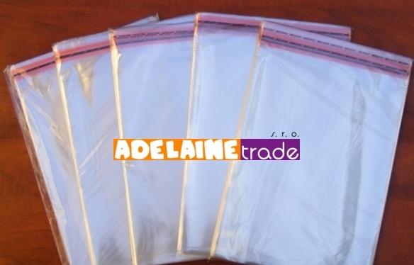 Priesvitné vrecúška lepiace - 100ks - 20 x 30 + 3,5 cm