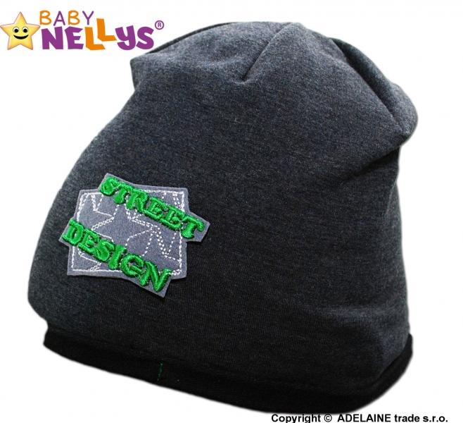 Bavlnená čiapočka Street Baby Nellys ® - grafit