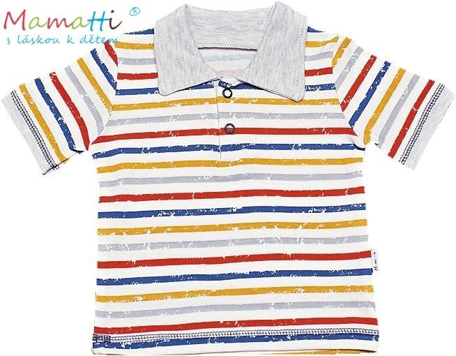 Polo tričko kr.rukáv Mamatti - Drak-#Velikost koj. oblečení;74 (6-9m)