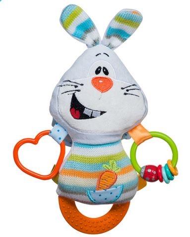 Edukačná hračka s hrkálkou a hryzátkom - Zajac