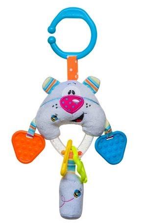 Edukačná hračka s hrkálkou a hryzátkom - Medvedík