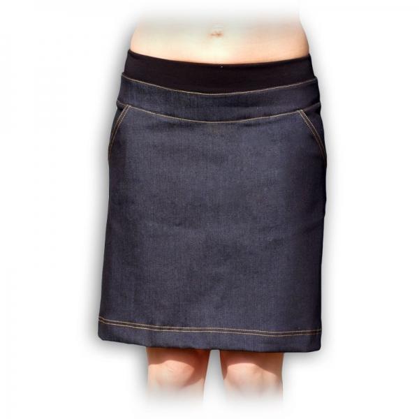 Tehotenská sukňa riflová nielen pre tehotné