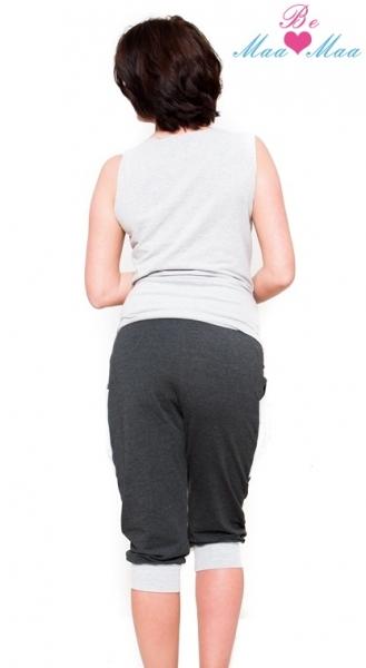 Tehotenské nohavice 3/4 Tessi - grafit