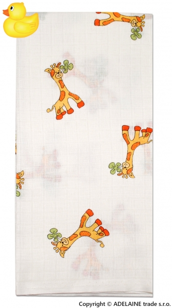 Tetrové plienka Žirafka - 1ks