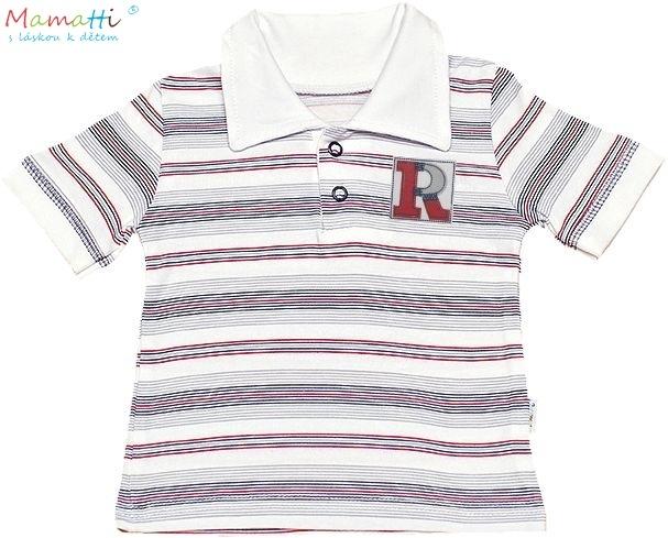 Polo tričko kr.rukáv Mamatti - Písmenká-#Velikost koj. oblečení;74 (6-9m)