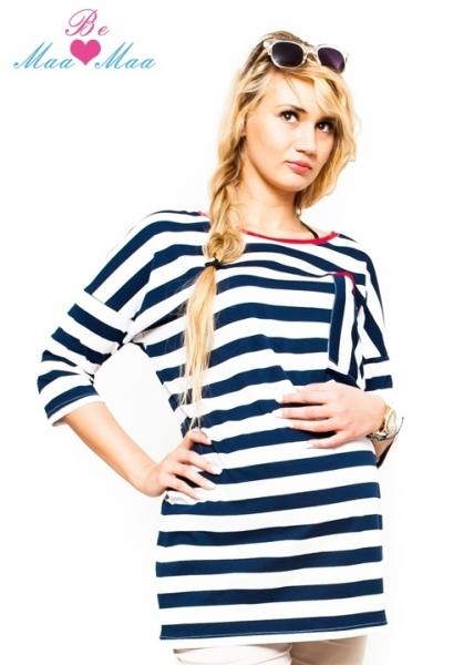Tehotenská tunika, tričko Apolena - pruhovaná-S/M
