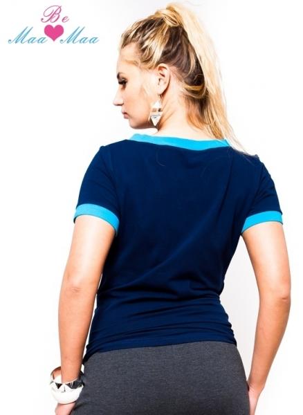 Tehotenské tričko krátky rukáv EVVA - granát