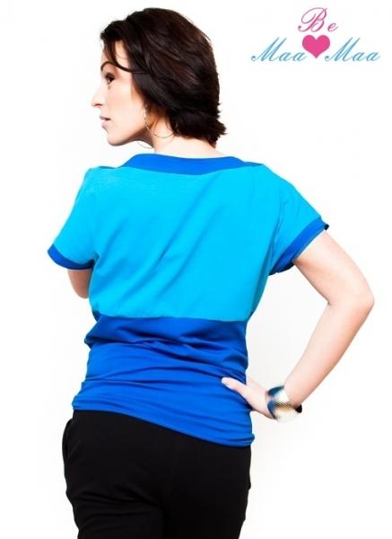 Tehotenské tričko krátky rukáv STEFANIE - modré