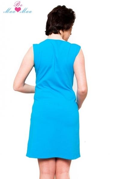 Tehotenská dojčiaca nočná košeľa IRIS - modrá