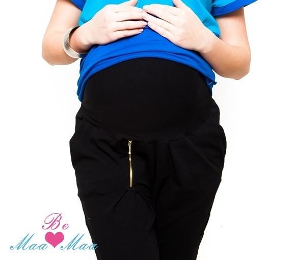 Tehotenské tepláky Be MaaMaa - čierne