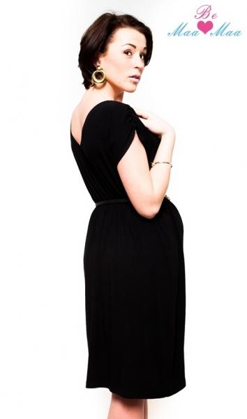 Tehotenské šaty Be Maamaa - Kim - čierne