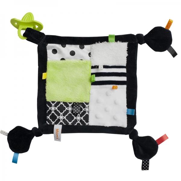 Roztomilý mazlík s hryzátkom - zelená kostička