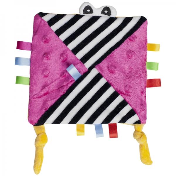 Hencz Toys Mazlík šuštik s očičkama - ružový