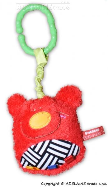Hencz Toys Plyšová závesná hračka - ČERVENÝ MACKO