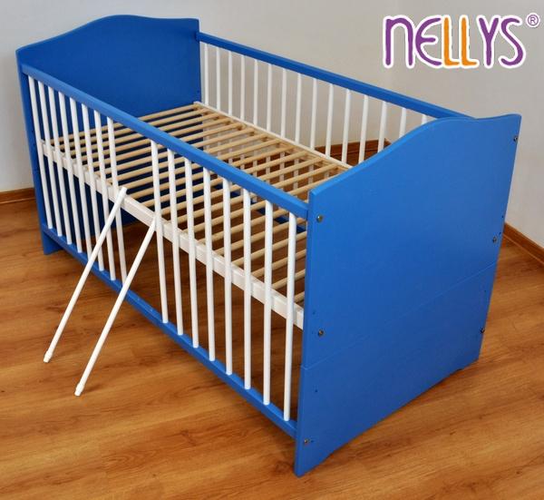 Postieľka 2v1 Nellys ® MASÍV farebná - modrá