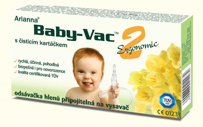 Arianna Dojčenská odsávačka hlienov - Arianna Baby-vac 2 s čistiacim kefkou