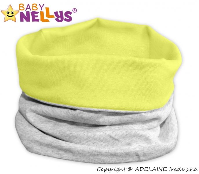 Nákrčník / komín Baby Nellys ® DUO - lemon / šedý