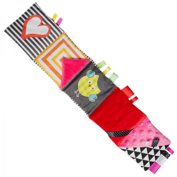Malá textilná knižka MINI - ružová