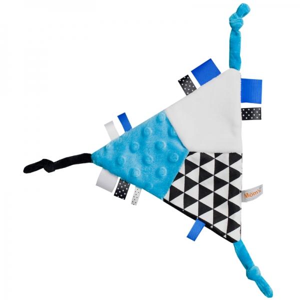 Mazlík šuštik trojuholník - modrý