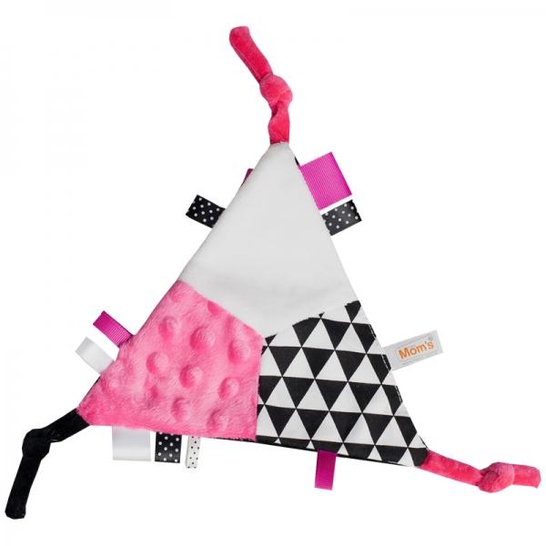Mazlík šuštik trojuholník - ružový