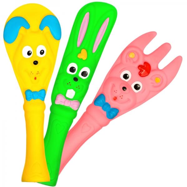 Veselé gumové hračky - príbor