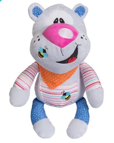 Edukačná plyšová hračka s hrkálkou Baby Ono - Medvedík