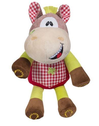 BabyOno Edukačná plyšová hračka s hrkálkou Baby Ono - Koník