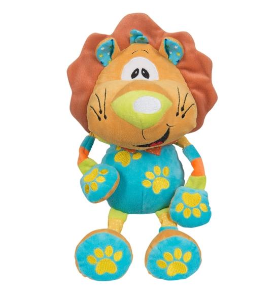 Edukačná plyšová hračka s hrkálkou Baby Ono - Lev