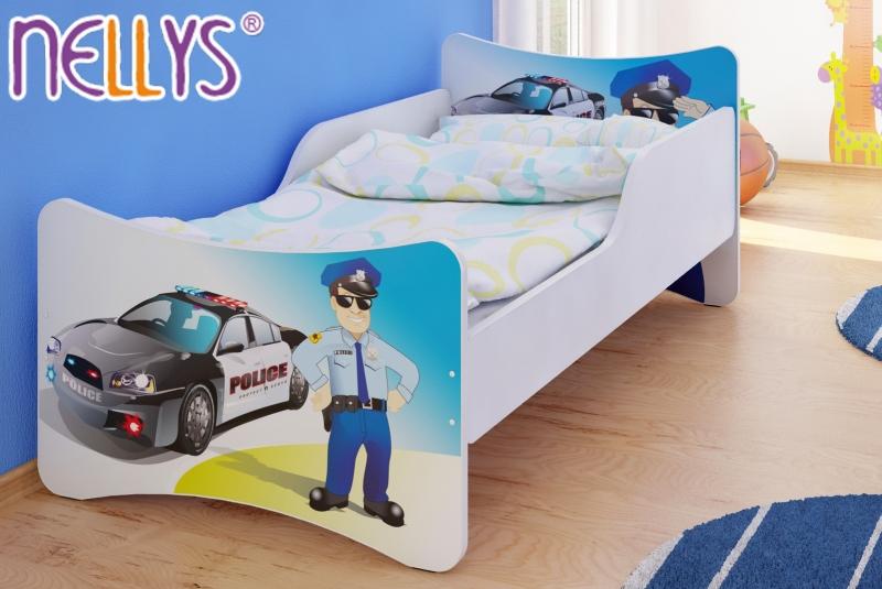 NELLYS Detská posteľ so zábranou Polícia - 200x90 cm