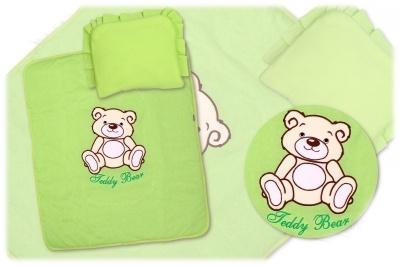 Sada do kočíka Medvedík Teddy Baby Nellys - zelená