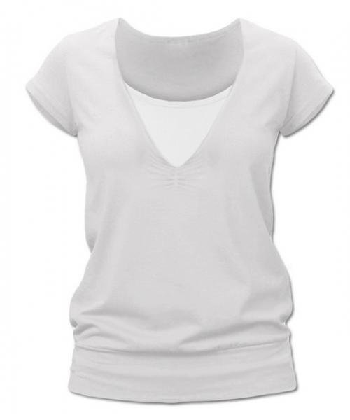 JOŽÁNEK Dojčiace, tehotenské tričko JULIE - smotanová-L/XL
