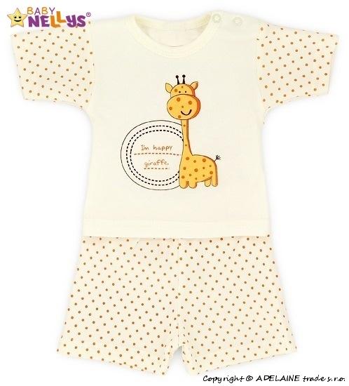 Tričko krátky rukáv s kraťaskami Baby Nellys ® Žirafka