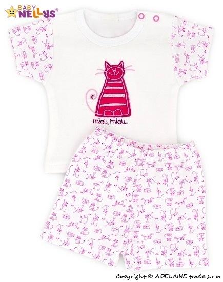 Tričko krátky rukáv s kraťaskami Baby Nellys ® Kočička
