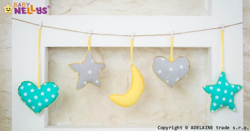 Baby Nellys Sada dekorácií Stars be Love č. 6