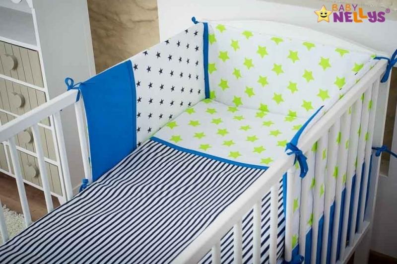Baby Nellys Mantinel s obliečkami 135x100cm, Stars be Love  č. 2