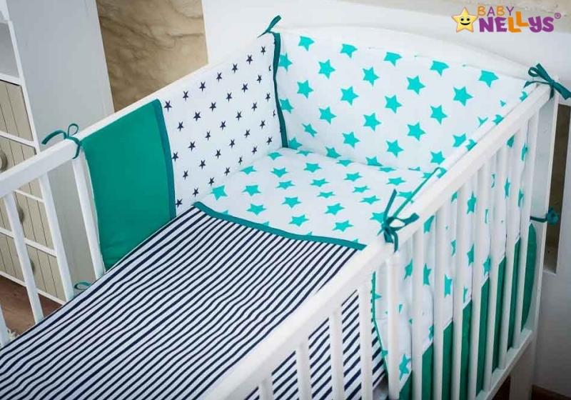 Baby Nellys Mantinel s obliečkami 135x100cm, Stars be love č. 5