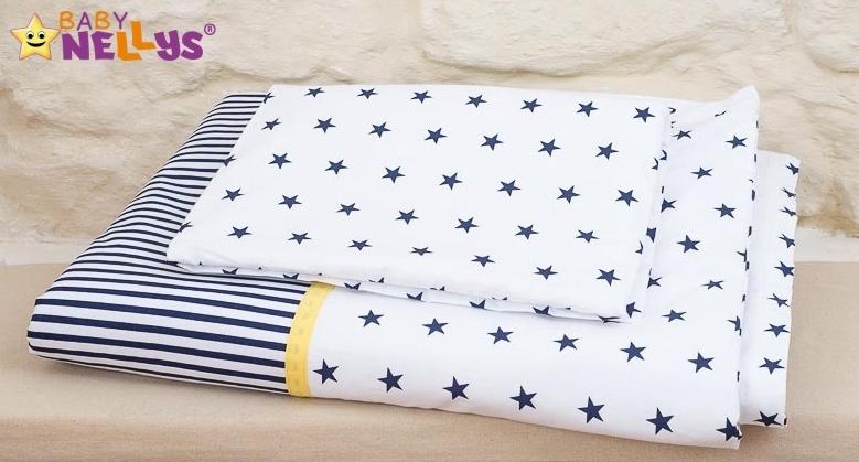 Baby Nellys Mantinel s obliečkami 135x100cm, Stars be Love č. 9