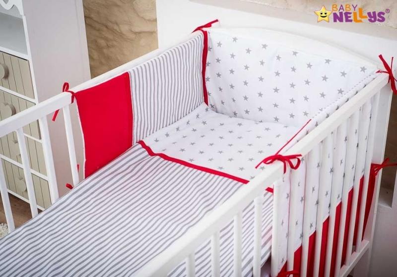 Baby Nellys Mantinel s obliečkami Stars be Love  č. 10